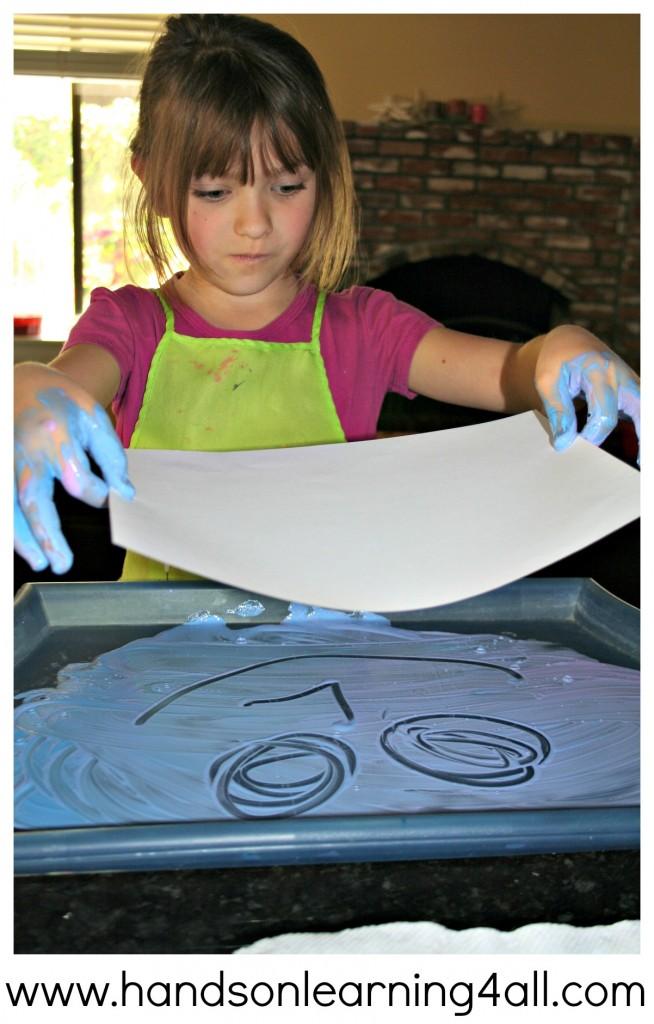 Finger Paint Printing 2