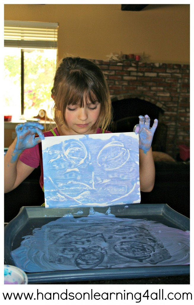 Finger Paint Printing 3